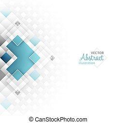 vecteur, shapes., fond, résumé, futuriste, carrée