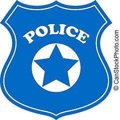 vecteur, signe police