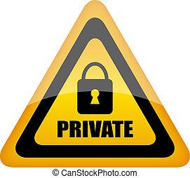 vecteur, signe privé