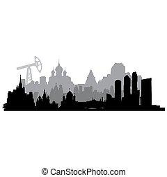 vecteur, silhouette, russie