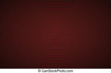 vecteur, simple, résumé, moderne, fond, noir, conception, hexagonal, rouges