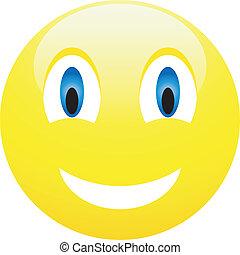 vecteur, smiles., illustration., collection