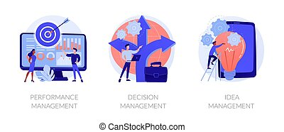 vecteur, solutions, concept, gestion, métaphores