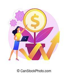 vecteur, soutenable, illustration., concept, résumé, business
