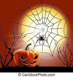 vecteur, spiderweb, fond