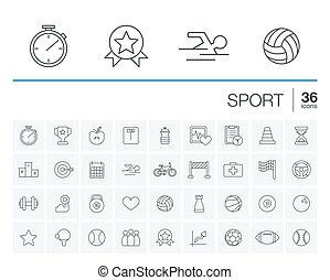 vecteur, sport, fitness, icônes
