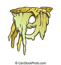 vecteur, stalactite, beau, couleur, glace, formulaire