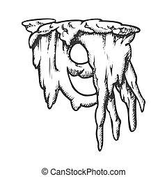 vecteur, stalactite, beau, glace, monochrome, formulaire