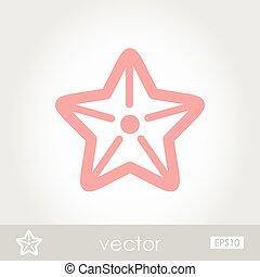 vecteur, starfishe, icône