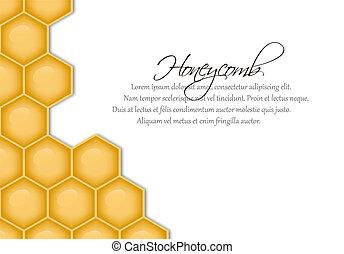 vecteur, structure, rayon miel