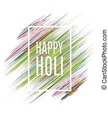 vecteur, style, éléments, art, holi, cadeau, festival, affiche, illustration, créatif, aquarelle, couleurs, indien, conception, aviateur, cartes, heureux, dessin