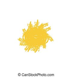 vecteur, sun., dessin, illustration