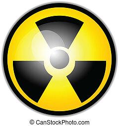 vecteur, symbole, avertissement, radiation
