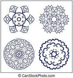 vecteur, symbols., géométrie, résumé, ensemble, sacré