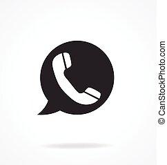 vecteur, téléphone, hotline, icône