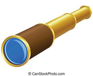 vecteur, télescope, illustration