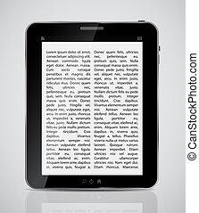 vecteur, tablette, illustration, icône