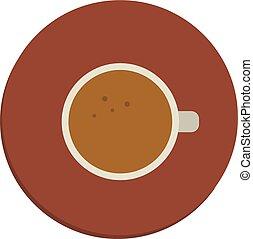 vecteur, tasse, arrière-plan., illustration, café blanc