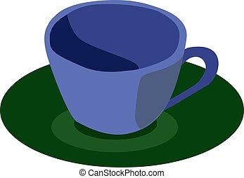 vecteur, tasse blanche, café, arrière-plan., illustration