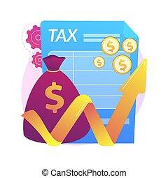 vecteur, taxable, illustration., concept, résumé, revenu