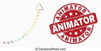 vecteur, tendance, icône flèche, pixel, haut, animator,...