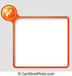 vecteur, texte, cadre, flash