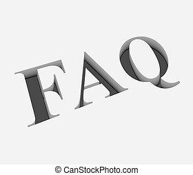 vecteur, texte, faq, conception