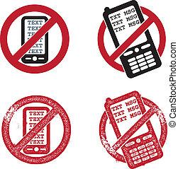 vecteur, texting, non, graphiques