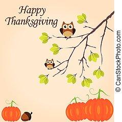 vecteur, thanksgiving, fond