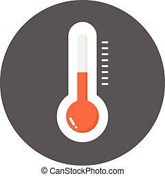 vecteur, thermomètre, icône