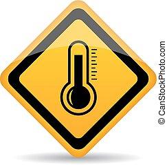 vecteur, thermomètre, signe