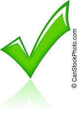 vecteur, tique, vert