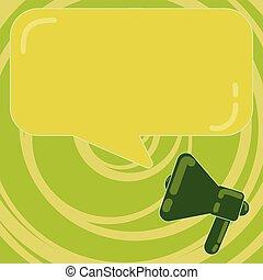 vecteur, toile, concept, reflet, affaires colorent, texte, copie, matériel, haut, promotionnel, conception rectangulaire, vide, gabarit, vide, parole, bannières, porte voix, bulle, railler