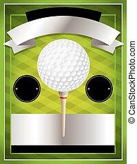 vecteur, tournoi, aviateur, golf, illustration