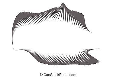 vecteur, transformation, fond, forme abstraite