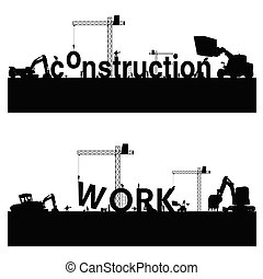 vecteur, travail construction