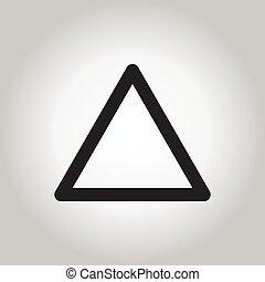 vecteur, triangle, gray/white, fond, icône