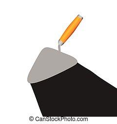 vecteur, truelle, illustration