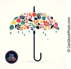 vecteur, umbrella., illustration