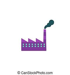 vecteur, usine, icône