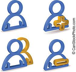 vecteur, utilisateur, icônes
