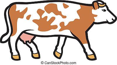 vecteur, vache, illustration