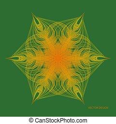 vecteur, vague, conception, arrière-plan., rond, étoile, moderne, résumé, élément