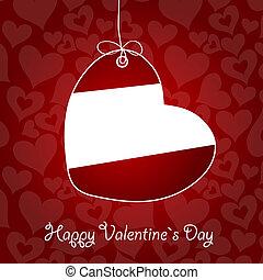 vecteur, valentineçs jour, illustration, carte