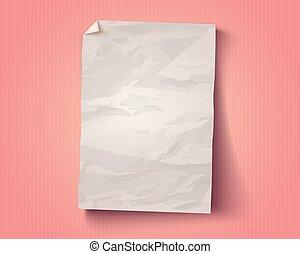vecteur, vendange, blanc, papier
