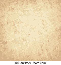 vecteur, vendange, fond, papier, égratignure, chiffonné
