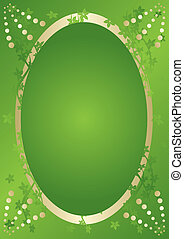 vecteur, vert, élégance, carte