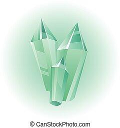 vecteur, vert, minéral