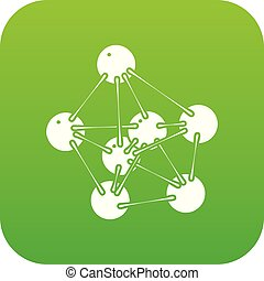 vecteur, vert, phenol, icône