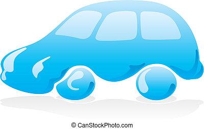 vecteur, voiture, 2, laver, icône